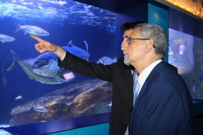 11 /ABRIL/18 – Presidente da República de Cabo Verde visita museu oceanográfico / Mónaco