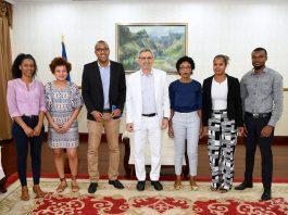 O Presidente da República recebeu, em audiência, o Presidente da JpD, Euclides Silva e…