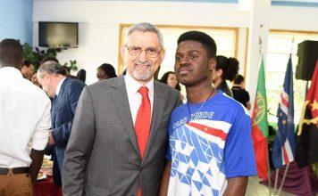Convívio entre o Presidente da República e jovens estudantes do Instituto Politécnico de Bragança,…