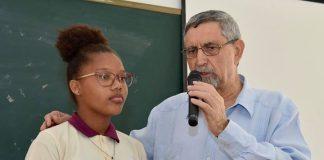 27 / Março / 18 – Encontro com jovens estudantes e professores do complexo…