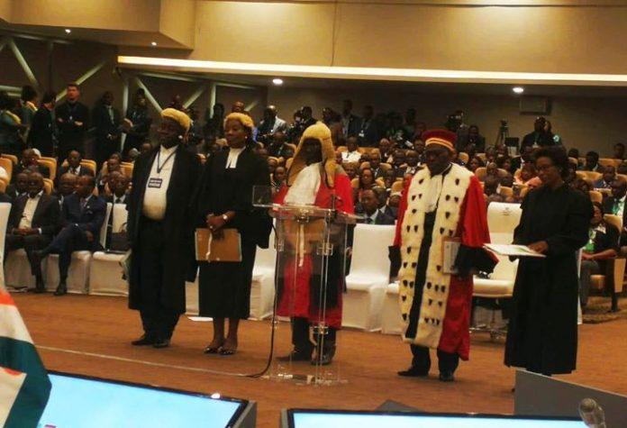 Presidente da República assiste ao empossamento de novos juízes do Tribunal de Justiça da…