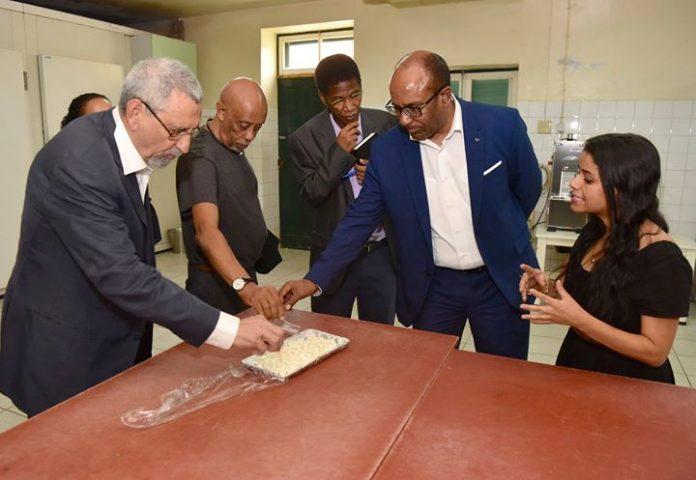 Presidente da República visita a fábrica de queijos e produtos agropecuários no Porto Novo,…