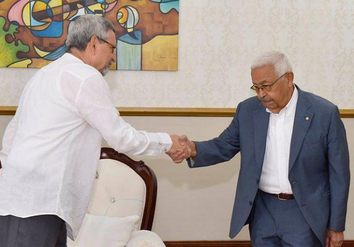 Presidente da República recebe o Presidente da Fundação Amílcar Cabral, 27 de Novembro de…