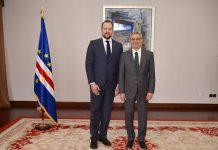 Presidente da República recebeu cartas credenciais do novo Embaixador da República Checa, Senhor Petr…