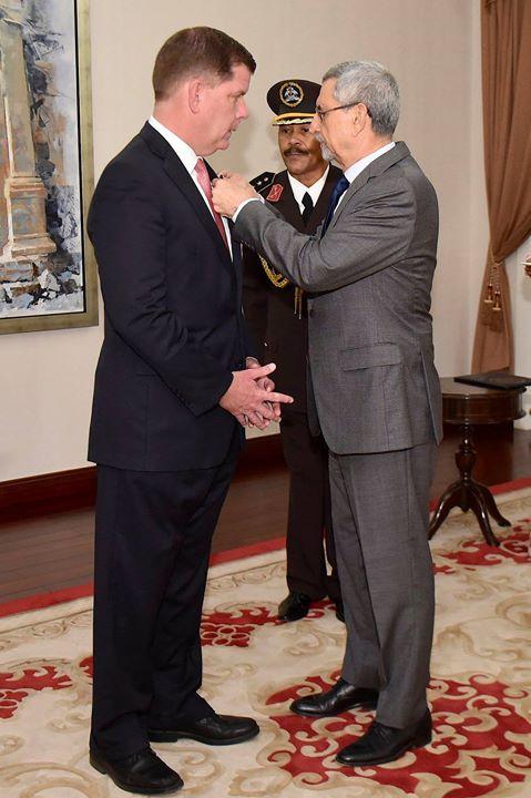 Presidente da República condecorou o Mayor de Boston, Martin Walsh com a Primeira Classe…