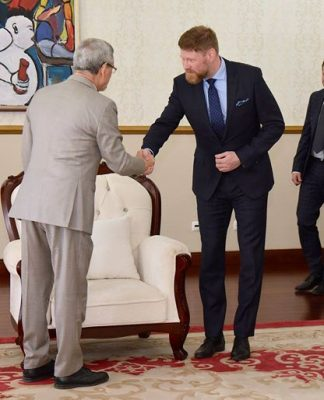 Presidente da República recebeu, em audiência, uma delegação da empresa islandesa que adquiriu 51%…
