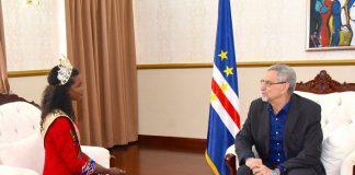 Presidente da República recebe visita de cortesia Miss West África, Senhora Dandira Veiga, 07…
