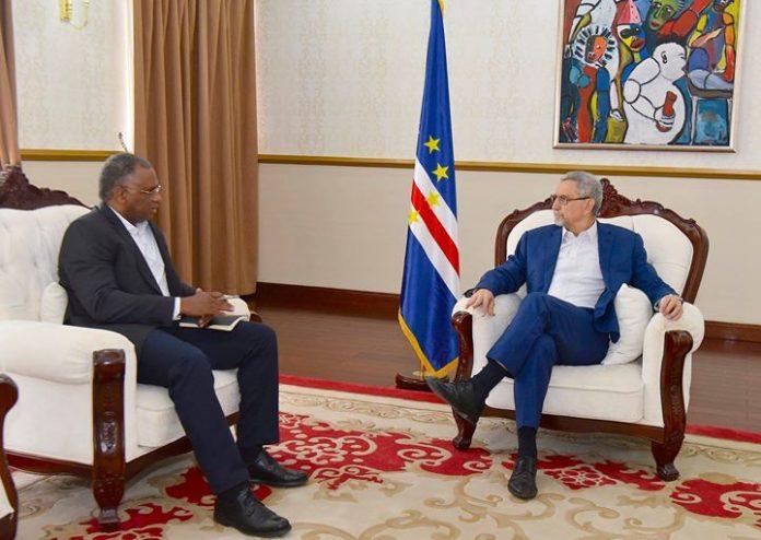 Presidente da República recebe, em audiência, o Presidente da Câmara Municipal da Praia, Dr.…