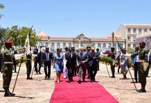 Chegada ao Palácio Presidencial, tête-a-tête entre os dois Presidentes, 15 de Abril de 2019…