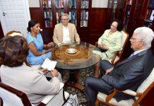 Presidente da República recebe, em audiência de cortesia, o Reverendo Jorge de Barros e…