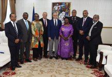 Presidente da República recebe visita de cortesia dos Ministros da Sa&ua…