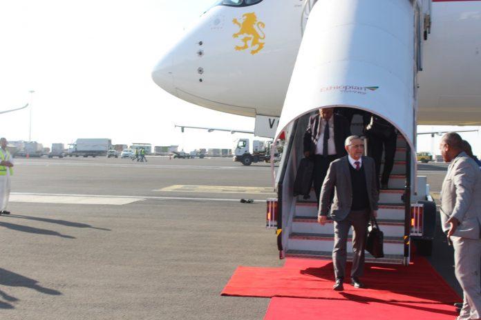 Chegada do Presidente da República a Addis Abeba para a 33.ª Cimeir…