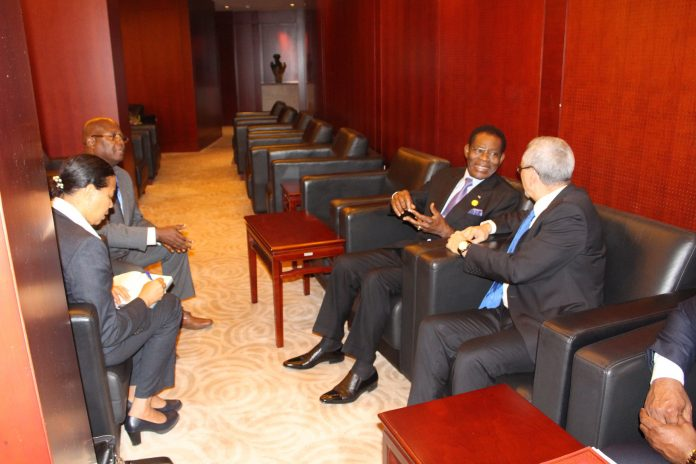 Encontro bilateral com S.E o Presidente da Guiné Equatorial, Teodoro Obi…