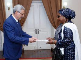 Apresentação das cartas credencias pela Embaixadora da Rep&uacute…