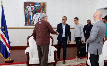 Presidente da República recebe os artistas César Scoffield e Patr…