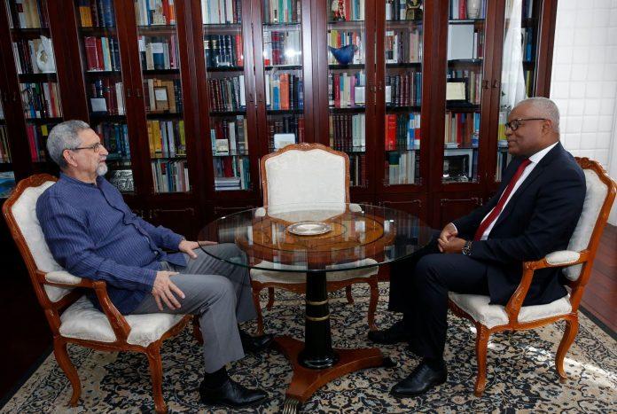 Encontro entre o Presidente da República, Jorge Carlos Fonseca, e o Pres…