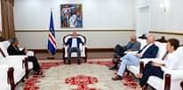 Presidente da República recebe a Secretária Geral do MPD, Drª Filomena Delgado, dand…