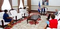 Presidente da República recebeu, em audiência a Srª Evanilda Santos, Presidente da C…