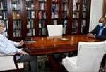 Presidente da República rece, em audiência o edil Óscar Santos.