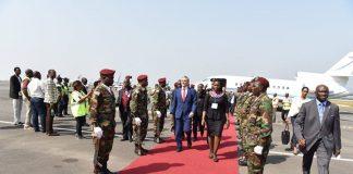 O Chefe de Estado Cabo-verdiano, Jorge Carlos Fonseca, acompanhado do Ministro Adjunto do Primeiro…