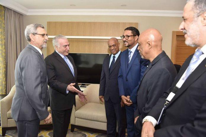 Presidente da Republica recebe Presidente do Brasil, Michel Temer O Presidente Jorge Carlos Fonseca…