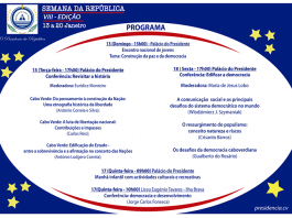 VIII edição da Semana da República – 13 a 20 de Janeiro de 2018…