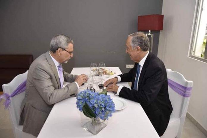 Presidente da República, Jorge Carlos Fonseca encontra-se com o Presidente português, Marcelo Rebelo de…