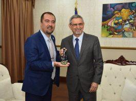 Presidente da República recebe visita da Organização Internacional de Entidades Representativas de Polícias de…