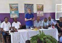 O Presidente Fonseca em encontro com as comunidades de Monte Joana e Lombo Branco,…