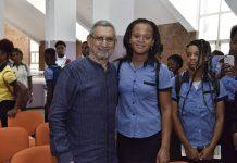 Presidente da República conversa com alunos do terceiro ciclo, no Liceu …