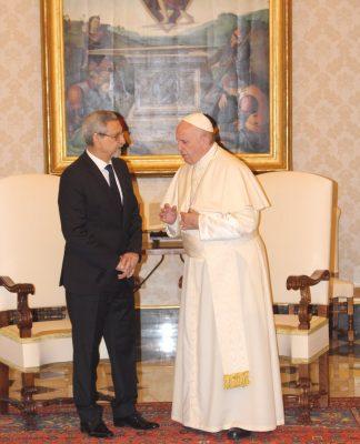 Encontro de SE o Presidente da República de Cabo Verde com o Santo Padre…