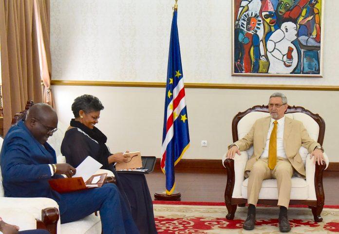 Presidente da República, Jorge Carlos Fonseca, recebe uma delegaç…