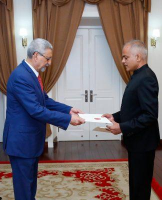 Apresentação das cartas credencias pelo Embaixador da Índi…