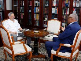 Encontro com o Presidente da Assembleia Nacional, Eng. Jorge Santos, no â…
