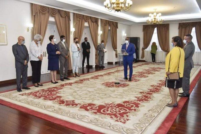 Apresentação de cumprimentos de Ano Novo da Associação Nacional dos Municípios de Cabo Verde…