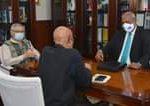 O Presidente da República, Jorge Carlos Fonseca,  recebeu, em audiência, na manh