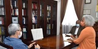 Presidente da República recebe, em audiência, o Ministro dos Negócios Estrangeir